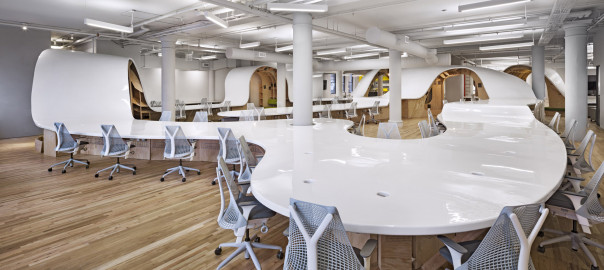 he Barbarian Group, a new generation internet advertising agency, has a unique workspace design that challenges its employees creativity.